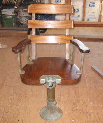 vintage fish fighting chair On fish fighting chair