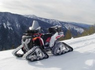 ATV with Snow Tracks