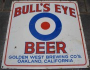 Porcelain Beer Sign